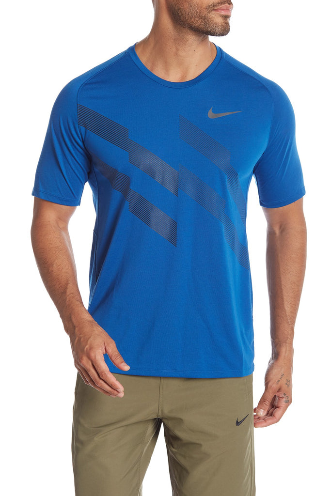 c5be29162 ... Nike Men's Dri-Fit Running Stripe Graphic Top. Nike Men