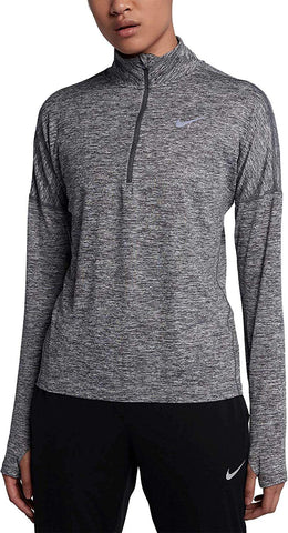 Nike Women's Dry Element Running Top-Carbon Heather