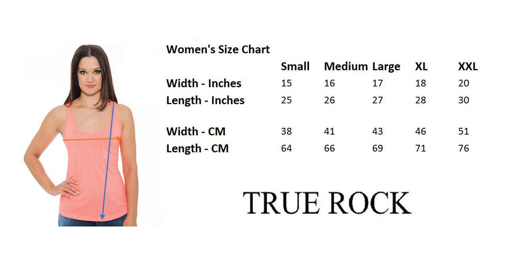 True Rock Jr Women's Racerback Pocket Tank Top