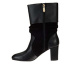 C. Wonder Women's Amanda Leather & Suede Mid-Calf Slouch Boots-Black
