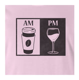 9 Crowns Tees Morning Coffee and Evening Wine Funny T-Shirt