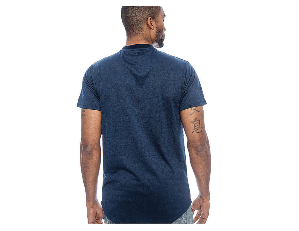 True Rock Men's Andy Plain Cutout Casual T-Shirt