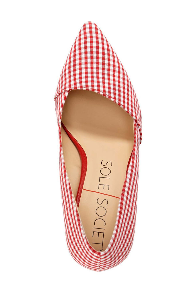 f4e4f2ffa62 ... Sole Society Women s Angelica Printed Pointed Toe Pumps-Red Gingham ...
