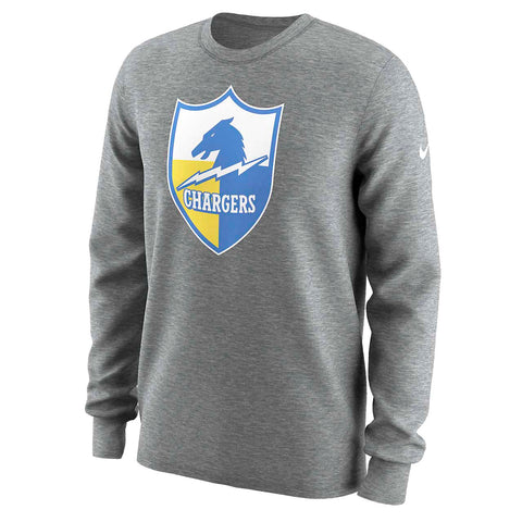 Nike Men's NFL Los Angeles Chargers L/S Shirt-Heather Grey