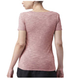 Nike Women's Plus Dri-Fit Swoosh Graphic Tee-Rust Pink