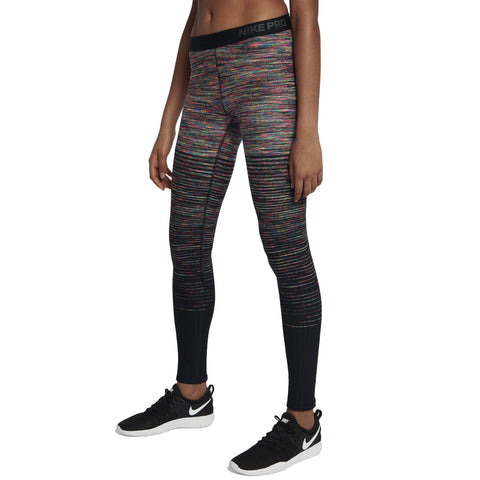 Nike Women's Hyperwarm Brushed Tights-Black/Multi Color