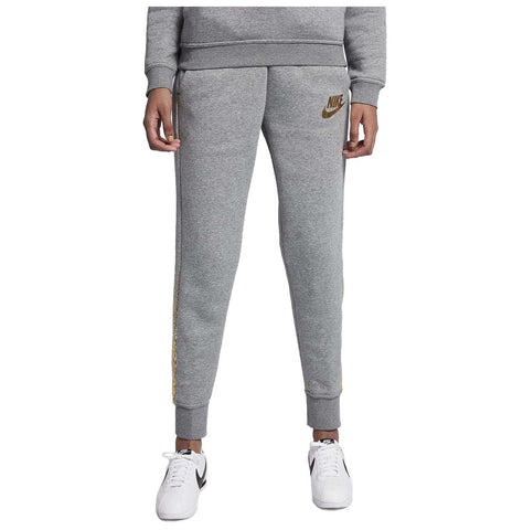 Nike Women's Metallic Rally Sport Casual Pants-Heather Grey
