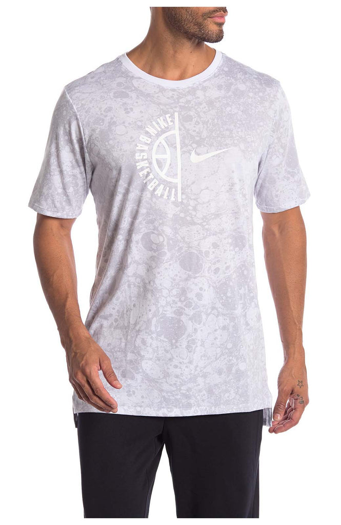 6deaebbba Nike Men. Nike Men's Dri-Fit Swoosh Arch Basketball Tee White Blustery Nike  Men's Dri-Fit Swoosh Arch Basketball ...