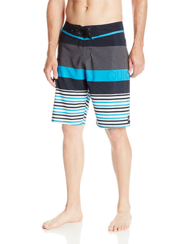 Quiksilver Men's Lean And Mean Recycled Board Shorts-Lean/Mean Black Stripe
