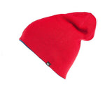 Quiksilver Men's Revolt Reversible Beanie Hat Cap-Navy/Red