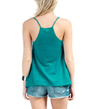 Roxy Juniors Colorful Rays Knit Tank Top-Aquatic Blue