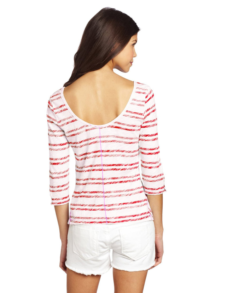 Roxy Juniors Starlily Scoop Neck Top Shirt