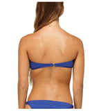 Roxy Juniors Naturally Beautiful Bandeau Bikini Top-Deep Blue