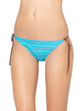 Roxy Juniors Love And Sunshine 70s String Bikini Bottoms-Turquoise