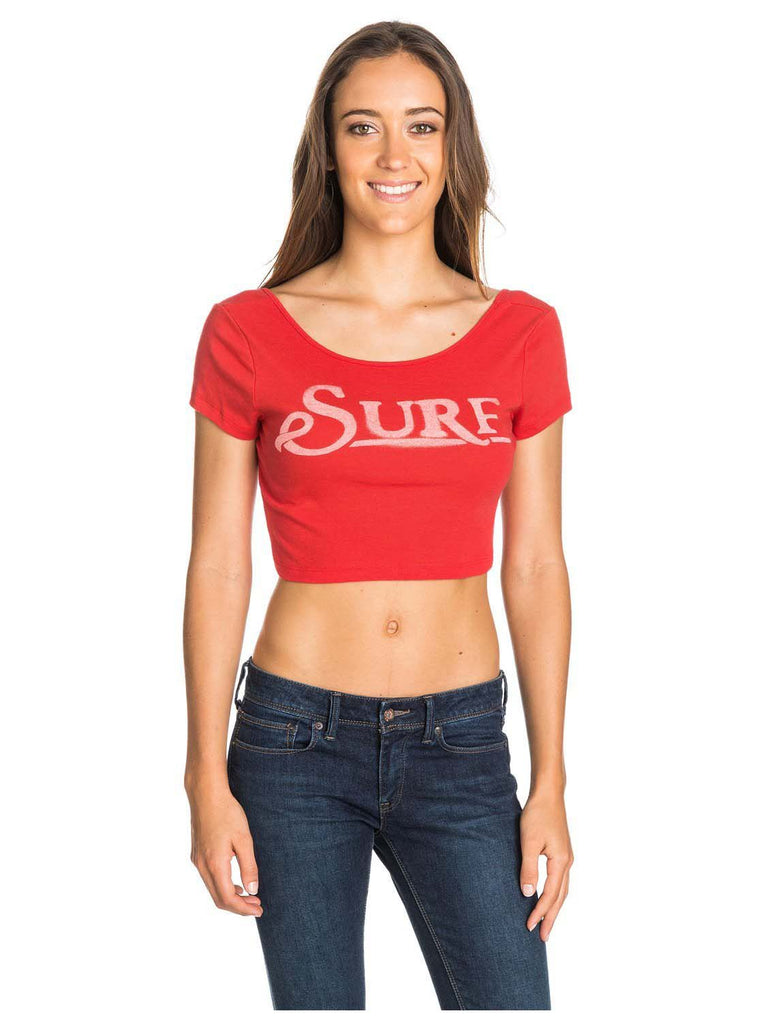 Roxy Juniors Surf Crop Top Tee