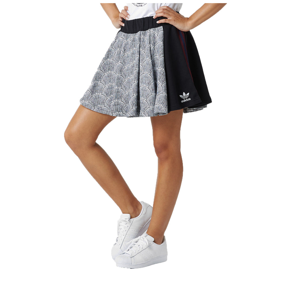 Adidas Originals Women's Shell Pleated Skirt-White/Black
