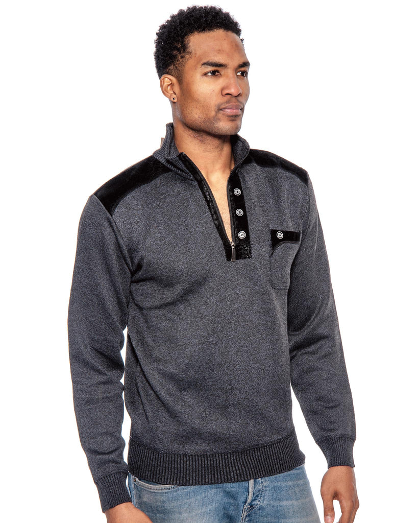 True Rock Men's 1/2 Zip Pullover Sweater