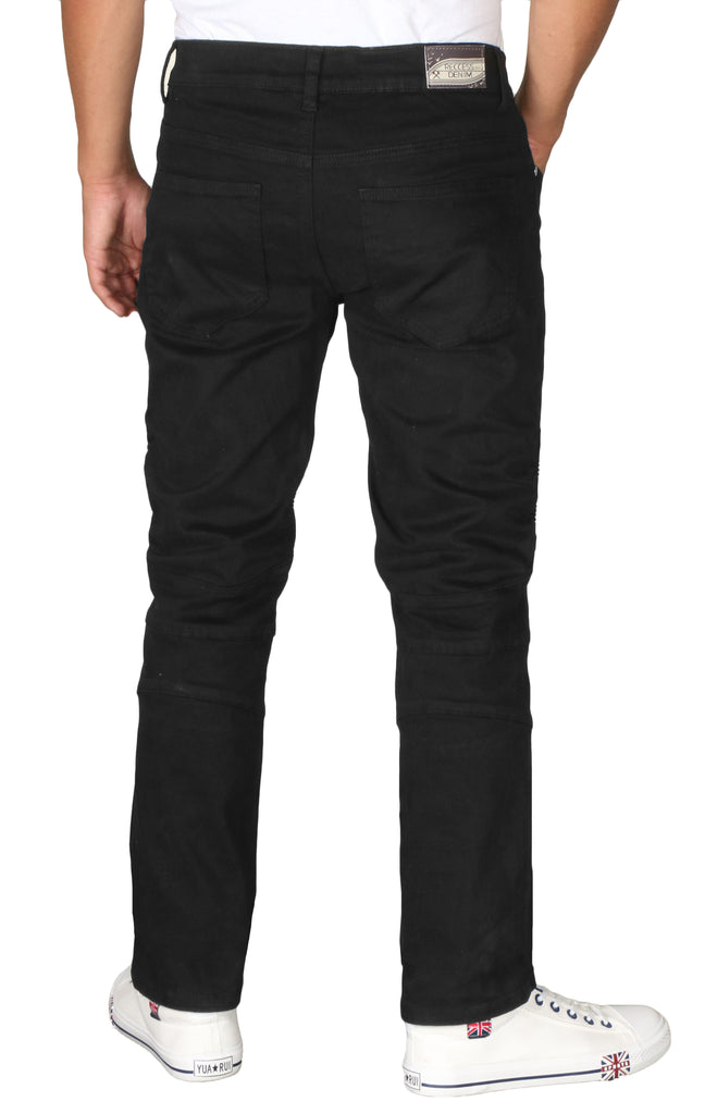 RD Men's Moto Slim Stretch Denim Jeans