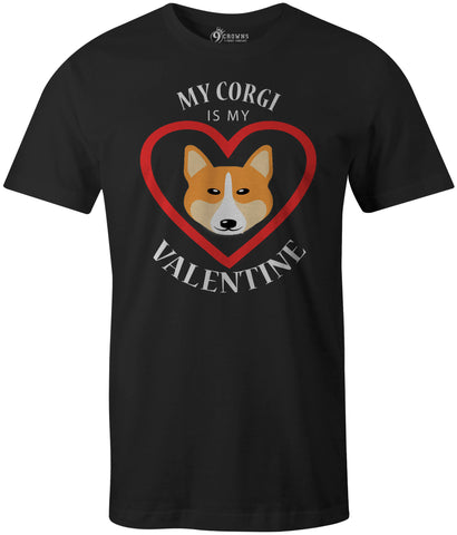9 Crowns Tees Men's Women's My Dog is My Valentine Funny T-Shirt