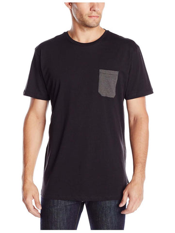 Quiksilver Men's Feed Pocket T-Shirt-Black/Gray