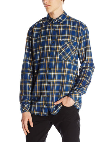 Quiksilver Men's Charad Flannel Shirt-Estate Blue