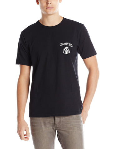 Quiksilver Men's Black Night Graphic T-Shirt-Black