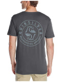 Quiksilver Men's Garment Dyed Undentified Graphic T-Shirt-Tarmac