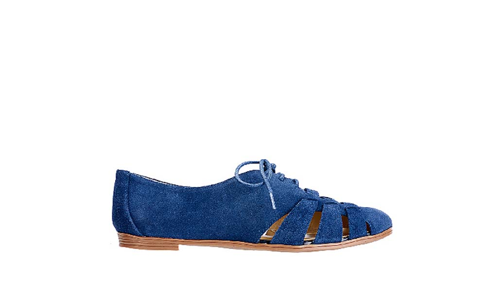 Isaac Mizrahi Live! Women's Farwin Dark Blue Suede Shoes-Navy