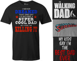9 Crowns Men's Funny Best Dad Father's Day T-Shirts