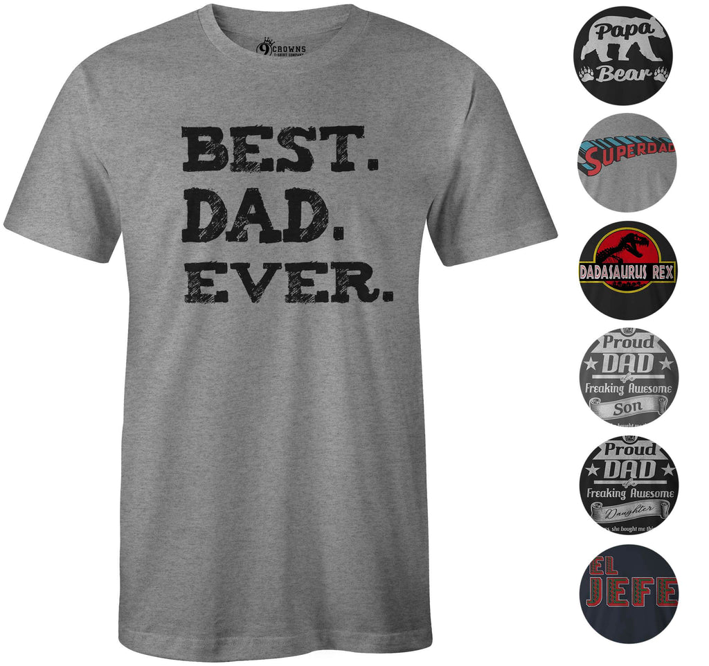 9 Crowns Tees Men's Awesome Funny Father's Day T-Shirt