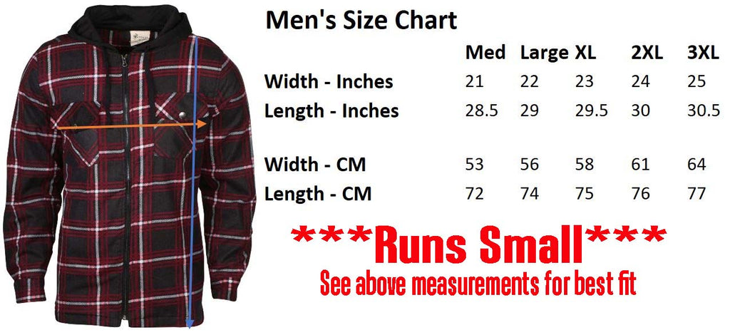 9 Crowns Mens Quilted Lightweight Plaid Flannel Hoodie Jacket