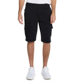 9 Crowns Men's Casual Urban Fleece Cargo Shorts