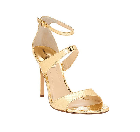 Marc Fisher Women's Gentry Straps With Heel-Gold