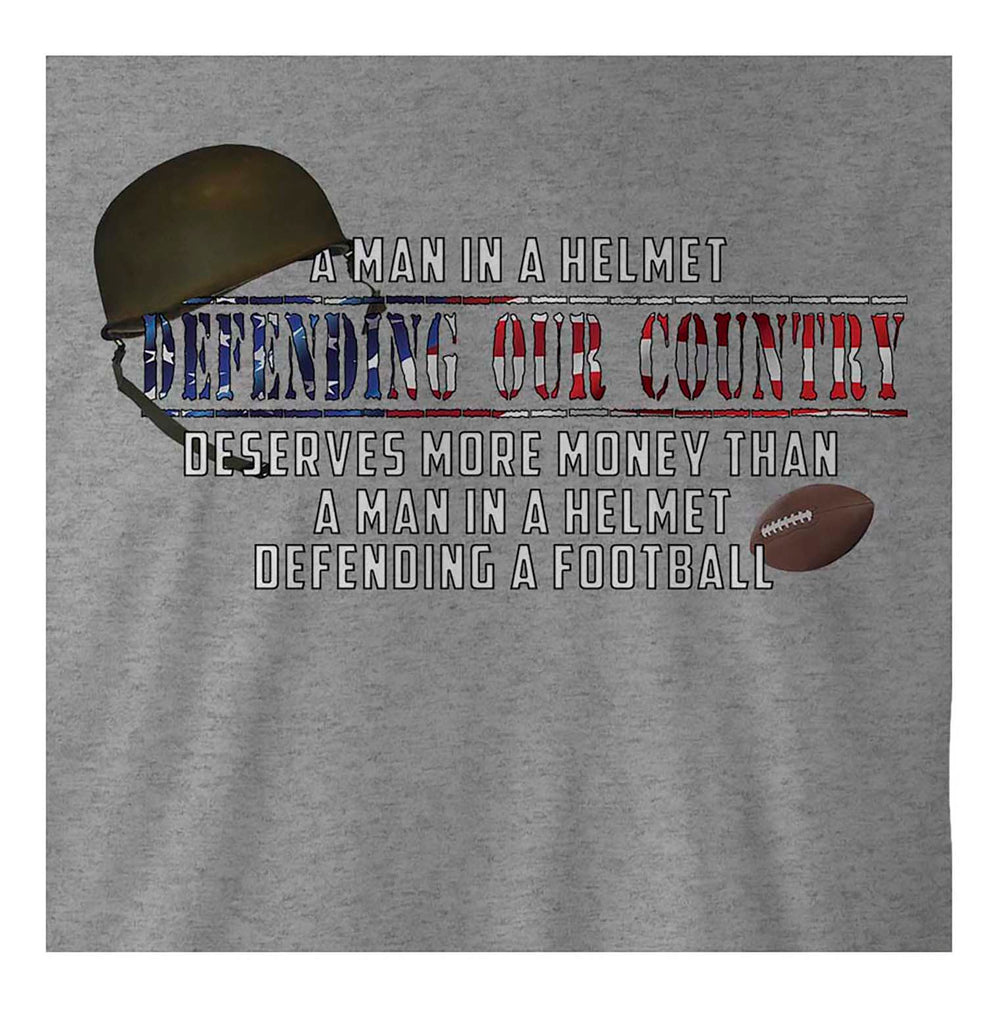 9 Crowns Tees Defending Our Country Armed Forces Graphic T-Shirt-Black