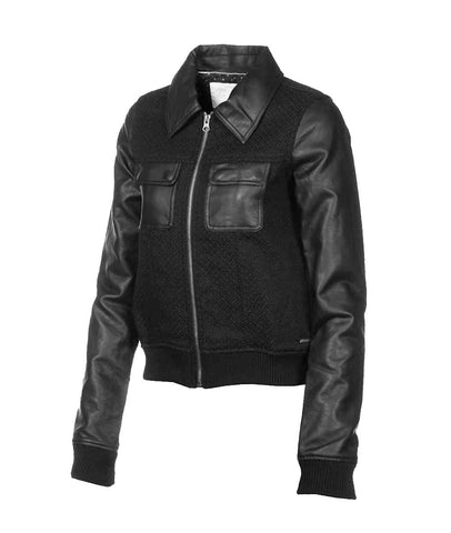Element Women's Albony Faux Leather Jacket-Black