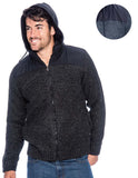 9 Crowns Essentials TR Men's Layer Look Hooded Sweater Jacket