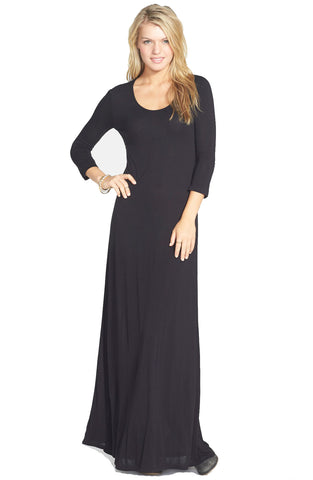 Element Juniors Ira Open Back Maxi Dress-Black