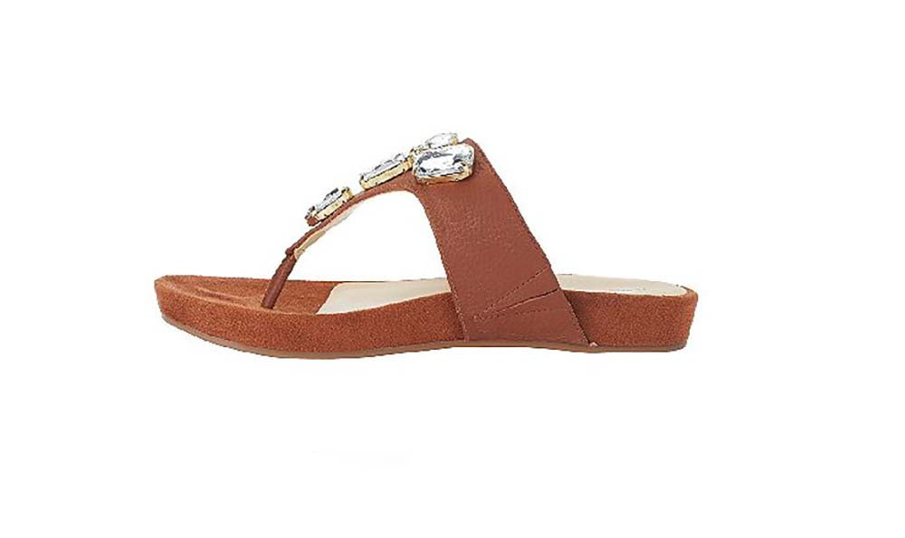Isaac Mizrahi Live! Women's Jill Leather Thong Sandals-Rio Maple