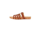 Isaac Mizrahi Live! Women's Jumper Leather Slip-On Sandals-Mid Tan