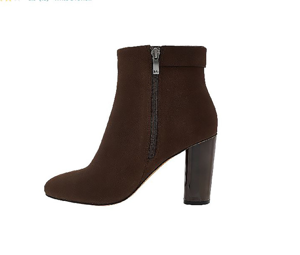 G.I.L.I. Women's Kallie Leather Block Heel Ankle Boots