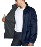 Maximos Mens Water Resistant Fleece Lined Wind Rain Hoodie Jacket