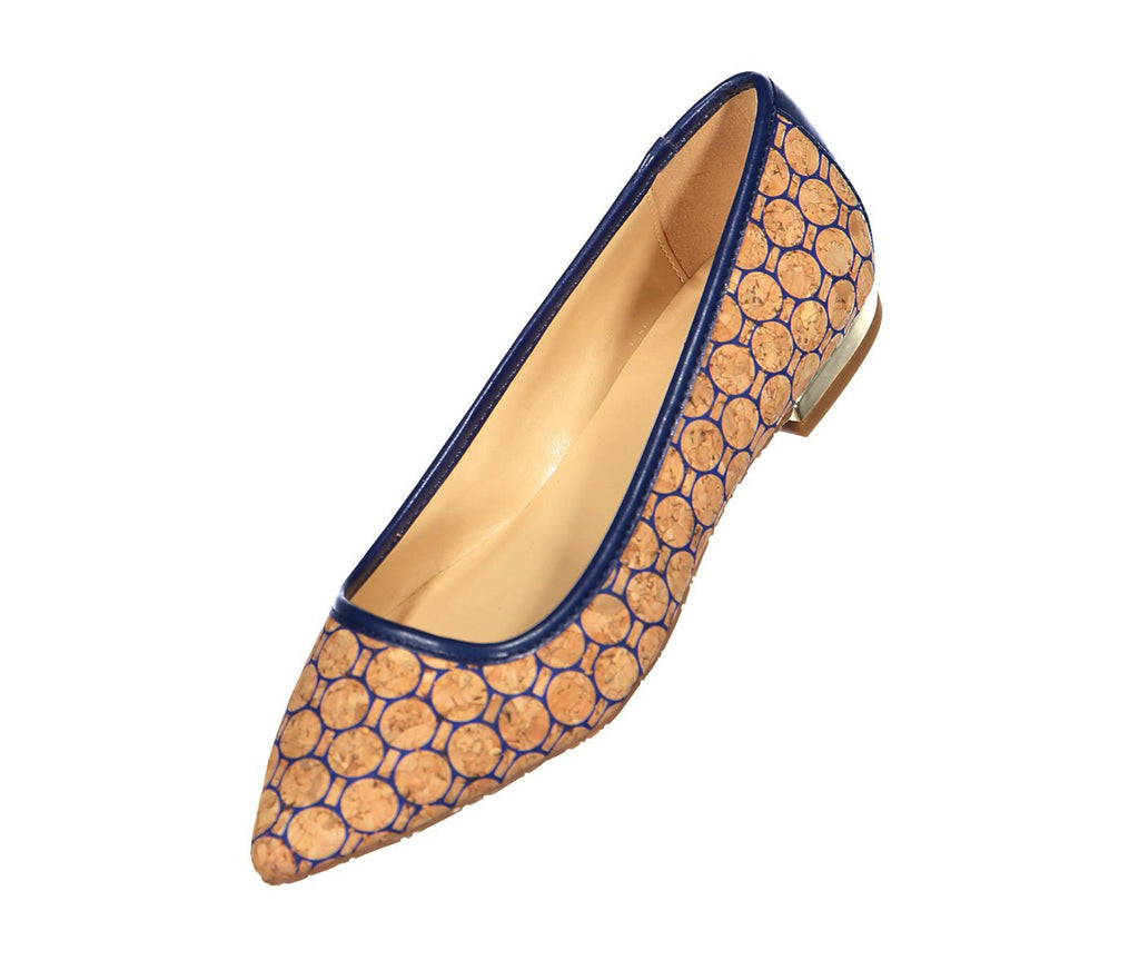 C. Wonder Women's Lilly Printed Cork Flats With Heel Hardware