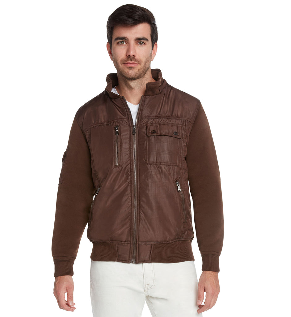 Maximos Men's Riley Fur lined Moto Style Hooded Jacket