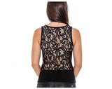 True Rock Jr Women's Lucy Lace Sleeveless Shirt