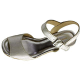 Marc Fisher Women's Maiseey Strappy Wedges-Silver