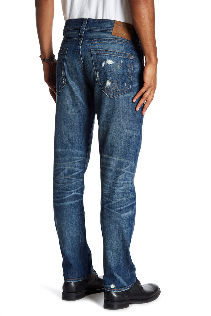 True Religion Men's Geno No Flap Relaxed Slim Jeans