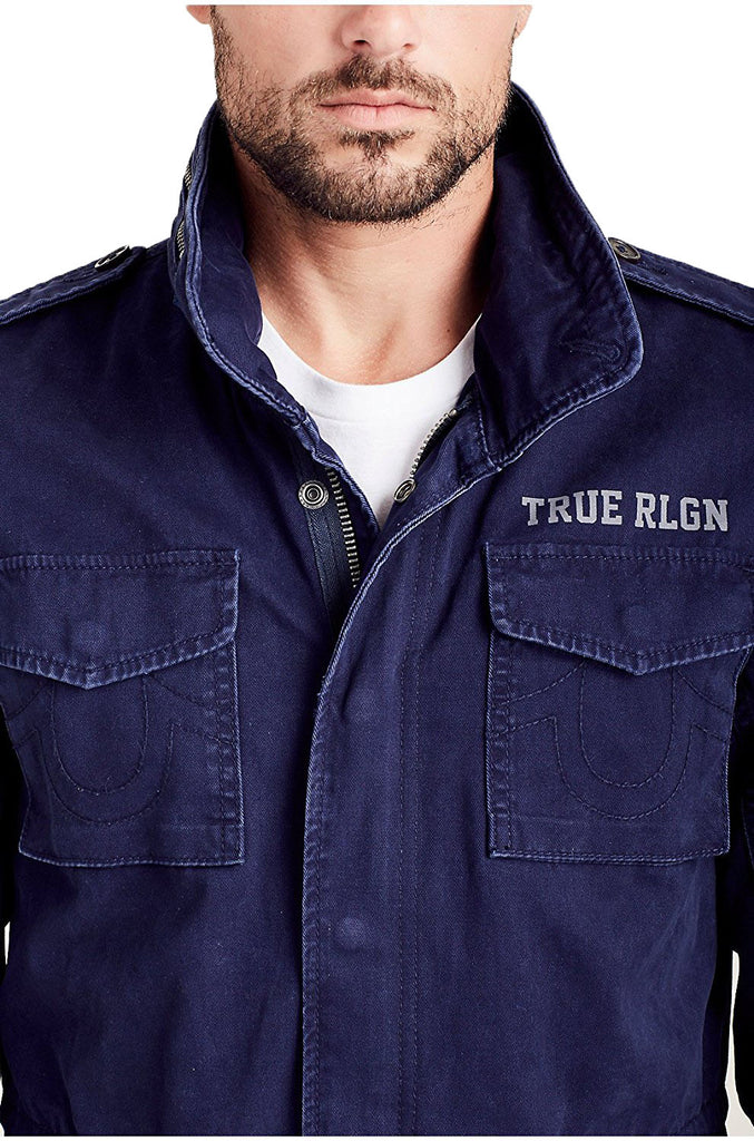 True Religion Men's First Chase Military Jacket