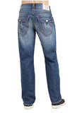 True Religion Men's Straight Flap Ripped Jeans