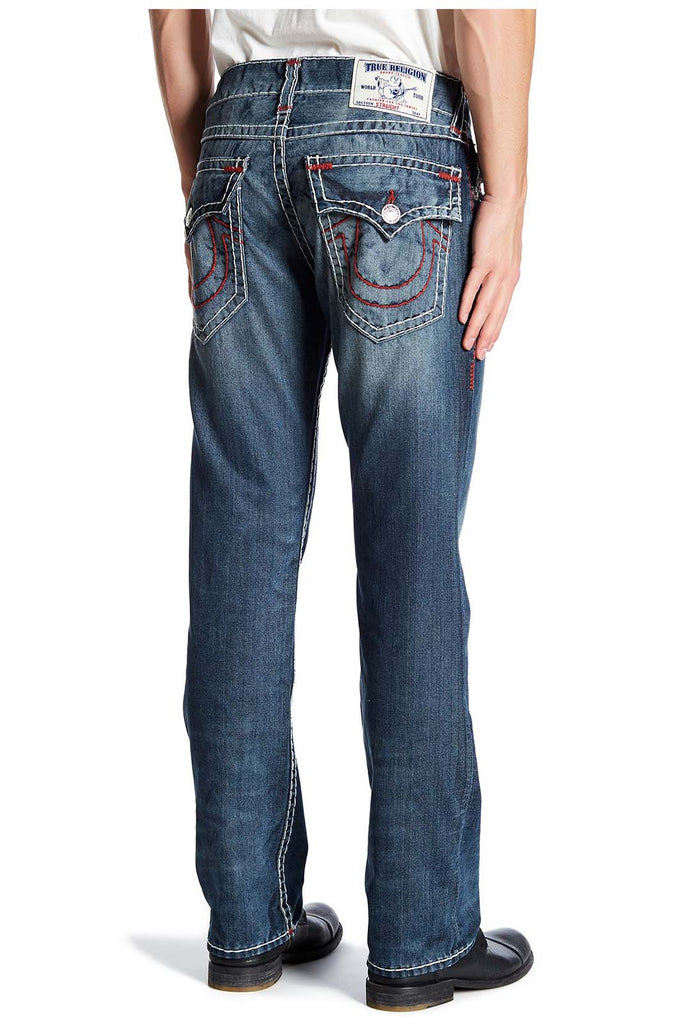True Religion Men's Straight Natural Red Super T Jeans