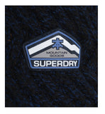 Superdry Men's Seaking Knit Heavyweight Sweater Jacket-Seaking Navy